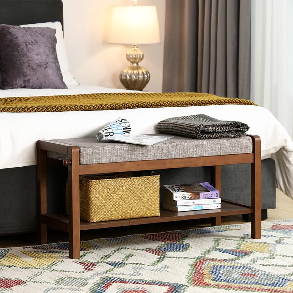 Binion Upholstered Storage Bench by Canora Grey