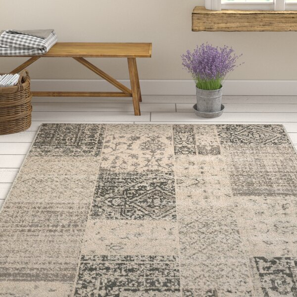 Jerome Charcoal & Beige Area Rug by One Allium Way