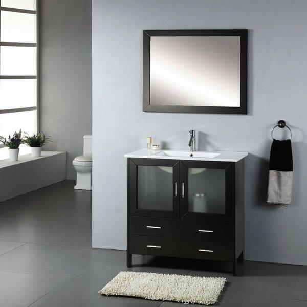 Stricker 35 Single Bathroom Vanity Set with Ceramic Top and Mirror by Ebern Designs