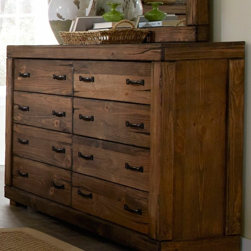 Nice Hilton 8 Drawer Double Dresser With Mirror