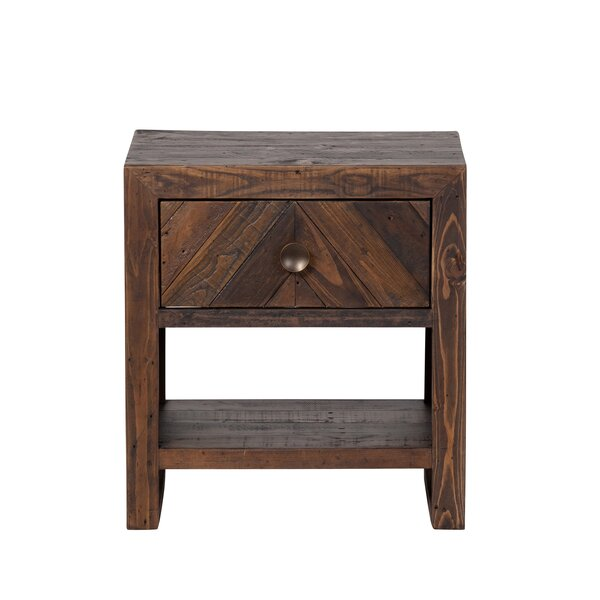 Elzada 1 Drawer Nightstand by Loon Peak