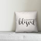 Colley so Incredibly Blessed Indoor/Outdoor Throw Pillow byGracie Oaks