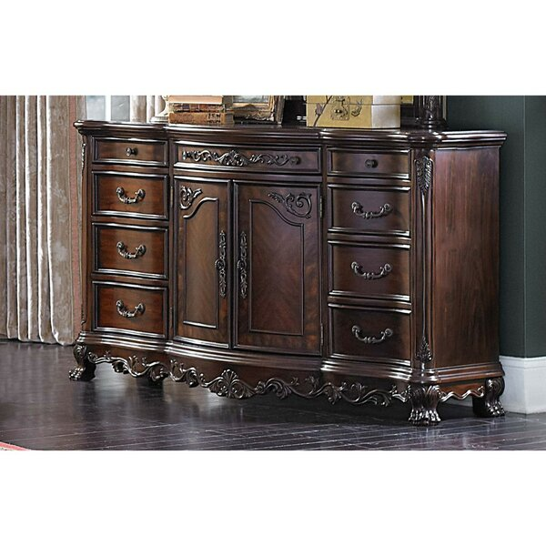 Dorn Traditional Multistorage Carved Wooden 9 Drawer Combo Dresser by Astoria Grand