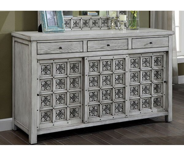 Northwoods 3 Drawer Double Dresser by Bungalow Rose