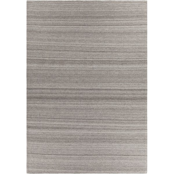 Poppy Textured Cotemporary Dark Gray Area Rug by Rosecliff Heights