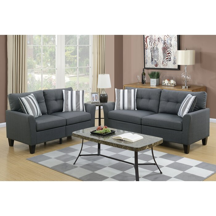 Wolfram 2 Piece Living Room Set