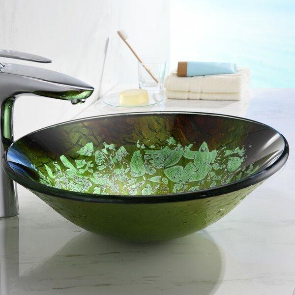 Chrona Glass Circular Vessel Bathroom Sink by ANZZI