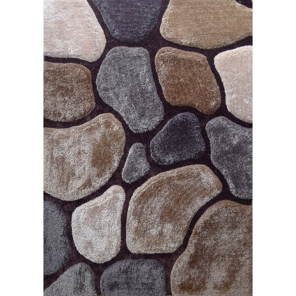 Wickstrom Hand-Tufted Brown/Gray Area Rug by Latitude Run