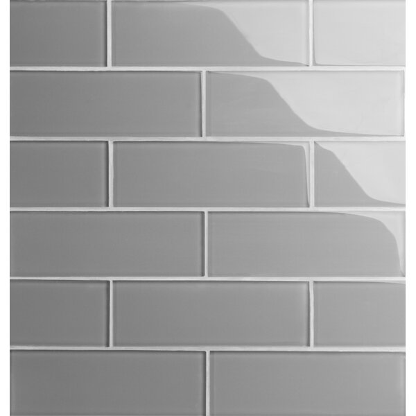 Premium Series 3'' x 9'' Glass Subway Tile in Dark Gray by WS Tiles