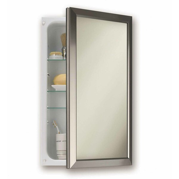 15.75 x 25.5 Recessed Framed Medicine Cabinet with 3 Adjustable Shelves by Jensen