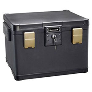 Waterproof Fire Chest with Key Lock 1.1 CuFt by Honeywell