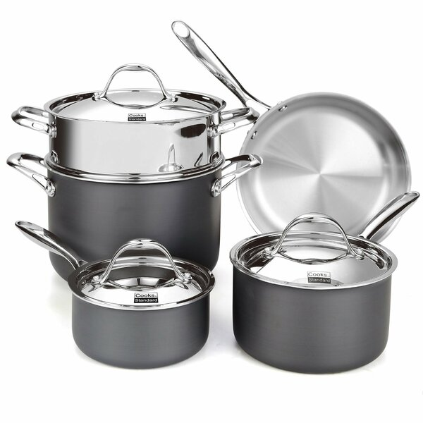Cooks Standard Multi-Ply Clad Hard Anodized 8-Piece Cookware Set by Cooks Standard