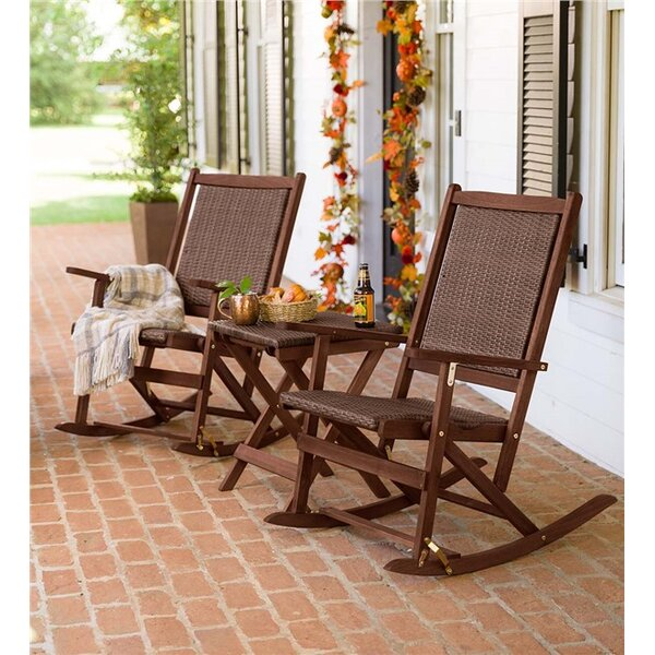 Claytor 3 Piece Rattan Conversation Set by Plow & Hearth