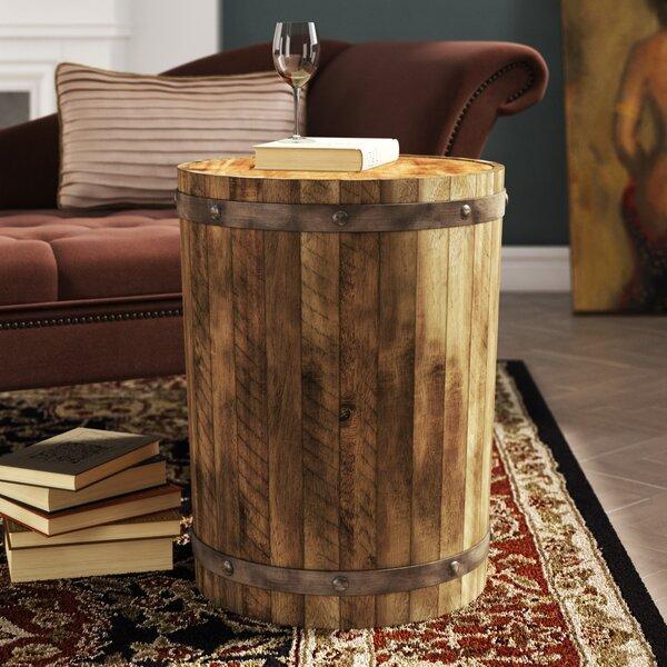 Berkshire Wine Barrel End Table By Loon Peak