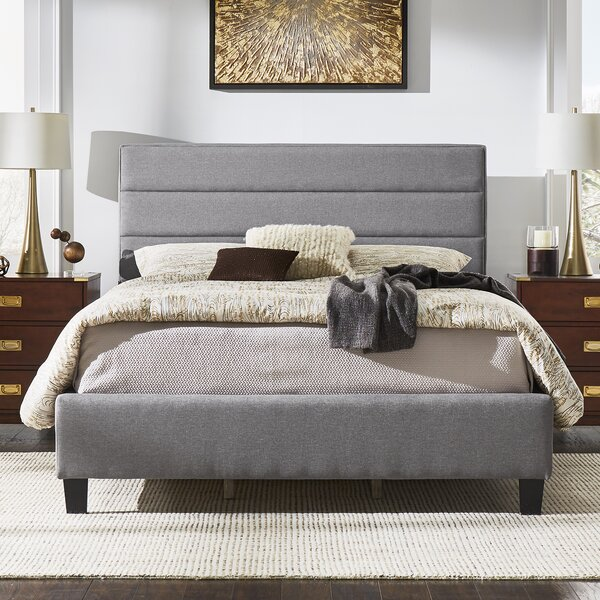 Okolona Upholstered Standard Bed by Wrought Studio