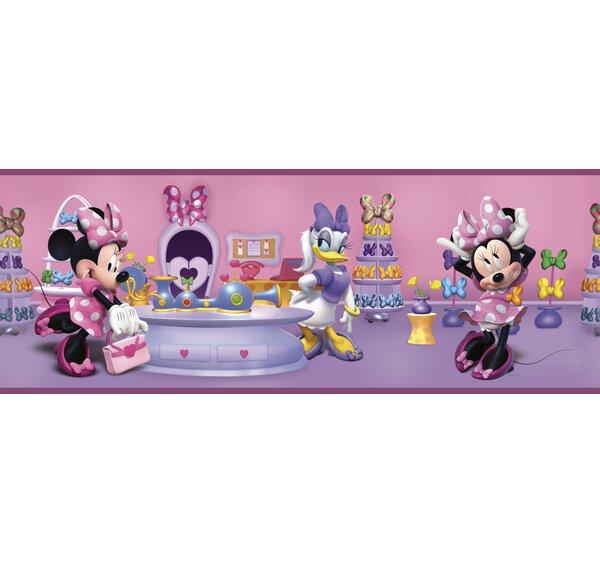 Walt Disney Kids II Minnie Bowtique 9 Border Wallpaper by York Wallcoverings