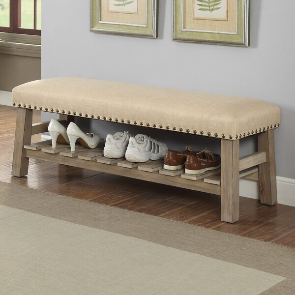 Mablethorpe Upholstered Storage Bench by Three Posts