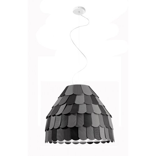 Roofer 1-Light Single Pendant Fabbian Shade Colour: Grey