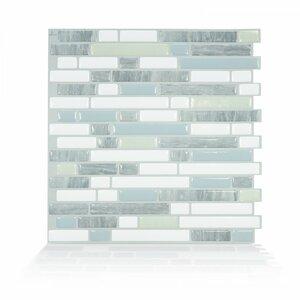 Bellagio Costa 10 x 10.06 Peel & Stick Mosaic Tile in White & Gray