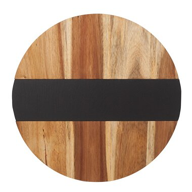 Farmhouse Acacia Wood and Slate Lazy Susan by Twine