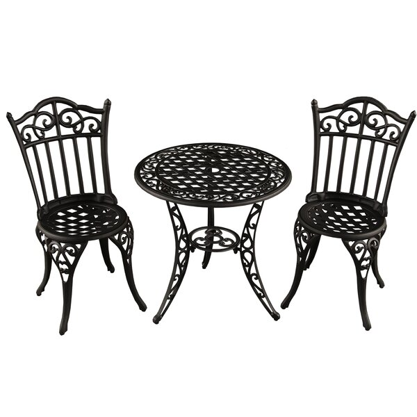 Caseville Ornate Traditional 3 Piece Bistro Set by Fleur De Lis Living