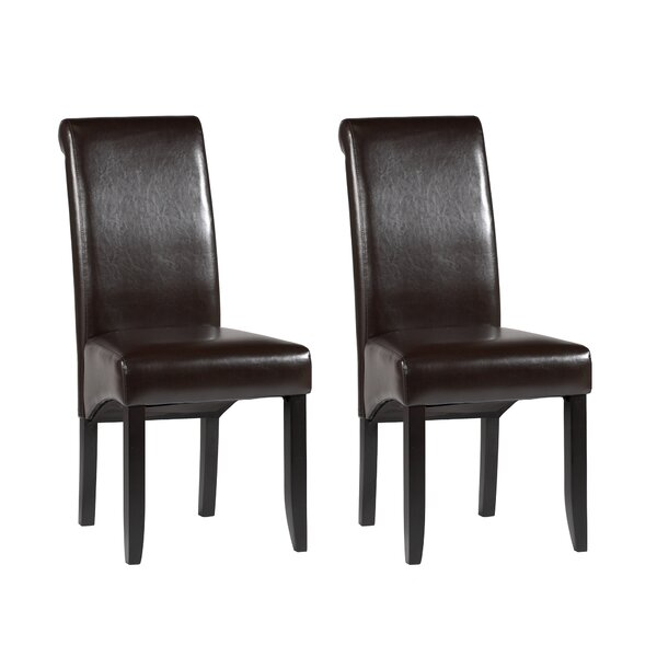 Roll Back Parsons Chair (Set of 2) by Chintaly Imports