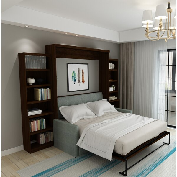 Munn Queen Upholstered Murphy Bed by Brayden Studio