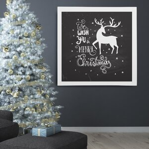 'Holiday Reindeer at Play' Photographic Print on Wrapped Canvas by The Holiday Aisle