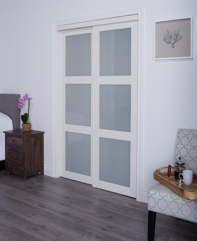 Baldarassario MDF 2 Panel Painted Sliding Interior Door