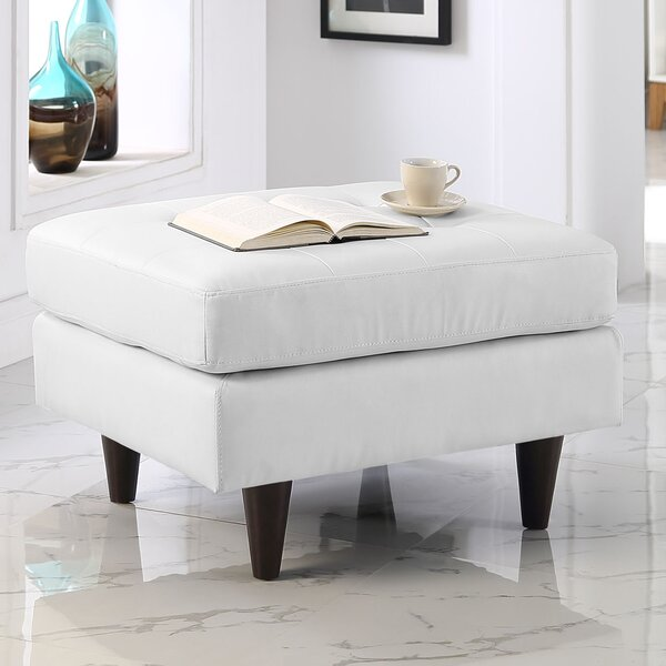 Warren Leather Cocktail Ottoman by Langley Street