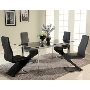 Charmant Chellsey Extendable Glass Dining Table