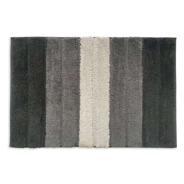 Ballston Rectangle Non-Slip Striped Bath Rug