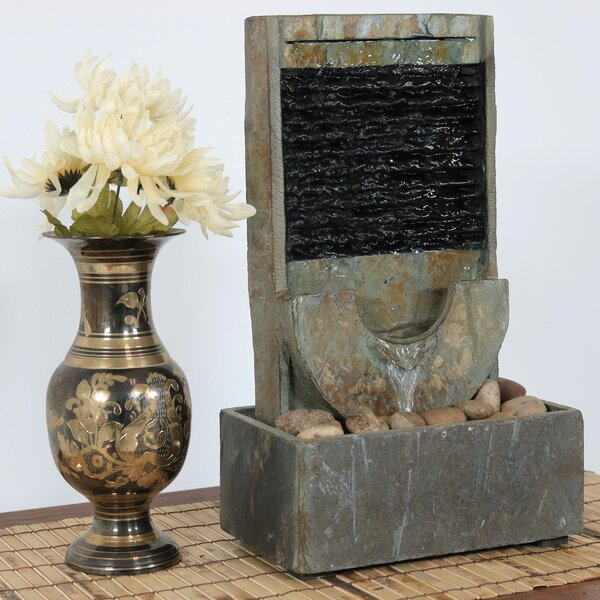 Slate Half Moon Indoor Tabletop Water Fountain by Wildon Home ®