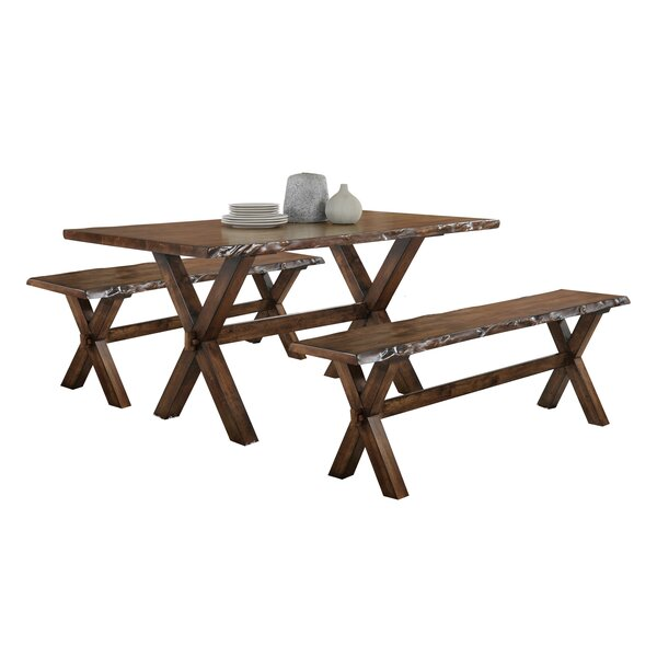 Adeline 3 Piece Breakfast Nook Dining Set by Millwood Pines