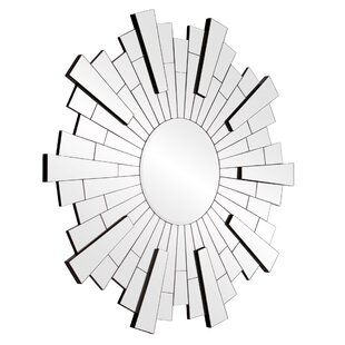 Wrought Studio Henriques Beveled Silver Starburst Wall Mounted Accent Mirror