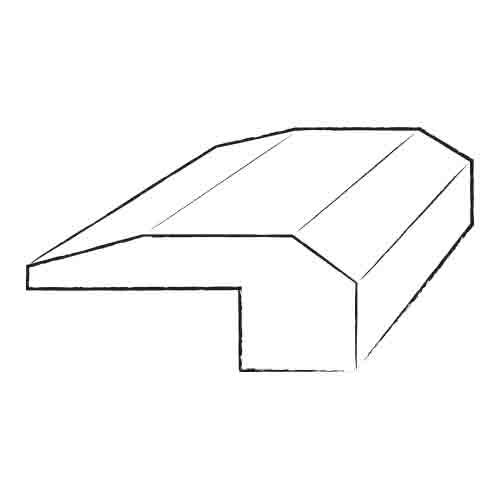 0.32 x 2 x 96 Tuscany Stair Nose in Smooth by Serradon
