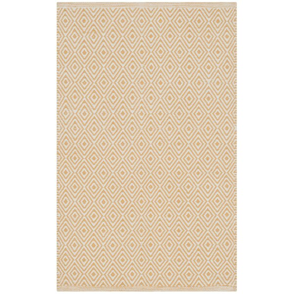 Shevchenko Place Hand-Woven Ivory/Gold Area Rug by Wrought Studio