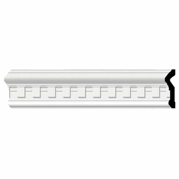 Munich Dentil 3 1/2H x 96W x 1D Chair Rail Moulding by Ekena Millwork