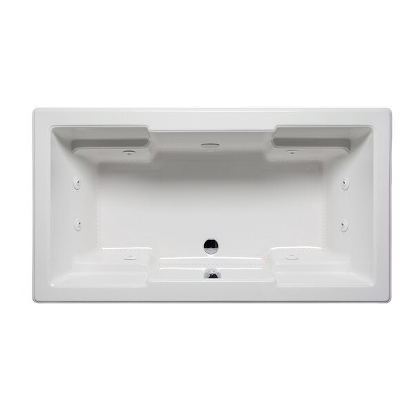 Quantum 72 x 42 Drop in Whirlpool Bathtub by Americh