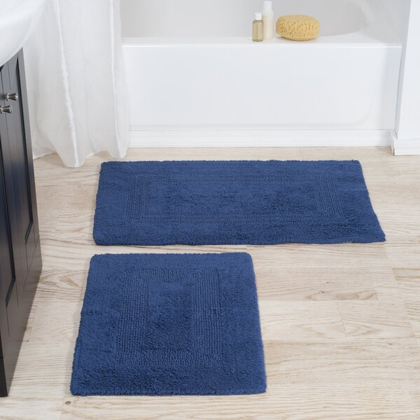 2 Piece Reversible Bath Rug Set by Lavish Home