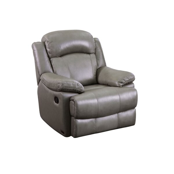 Volkman Leather Manual Recliner By Red Barrel Studio