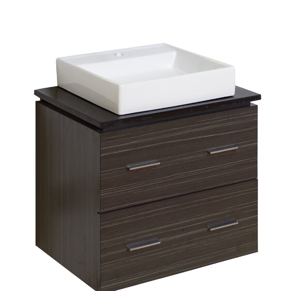 Kaplan Premium Glazed Wall Mount 24 Single Bathroom Vanity Set by Royal Purple Bath Kitchen