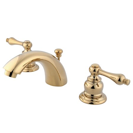 Victorian Widespread Mini Bathroom Faucet with Brass Pop-Up Drain