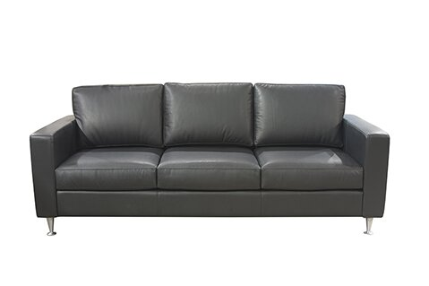 Mei Leather Sofa by 17 Stories