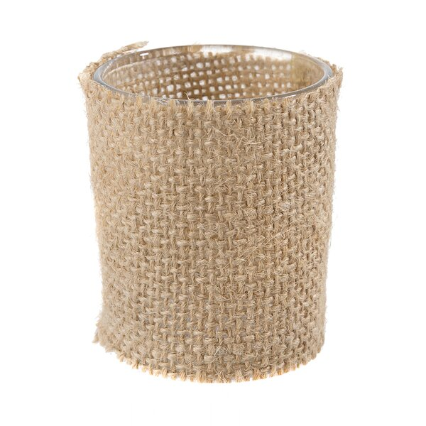 Burlap Covered Glass Votive Holder (Set of 12) by David Tutera