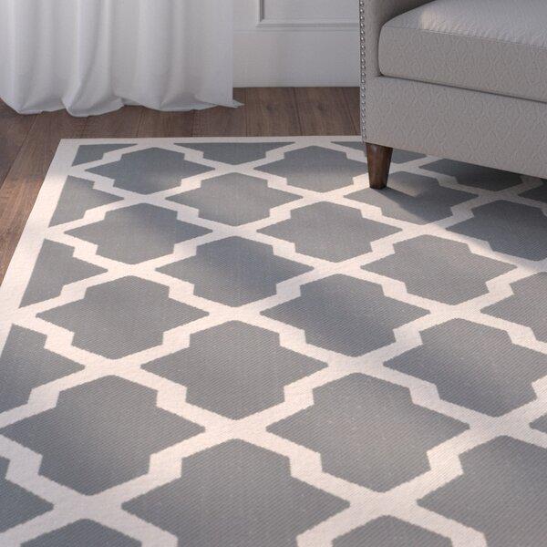 Short Gray IndoorOutdoor Area Rug by Winston Porter