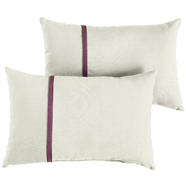 Fleener Indoor/Outdoor Sunbrella Lumbar Pillow (Set of 2) by Charlton Home
