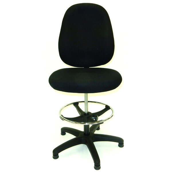46.5 Upholstered Seat Drafting Chair by Symple Stuff