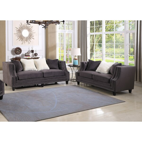 Jardine 2 Pieces Living Room Set by Canora Grey