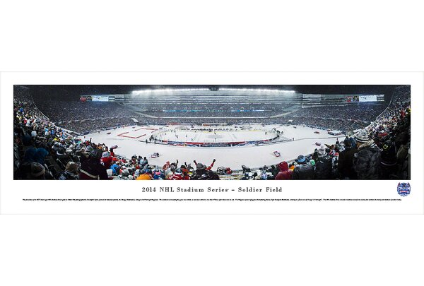 NHL 2014 Stadium Series by Christopher Gjevre Photographic Print by Blakeway Worldwide Panoramas, Inc